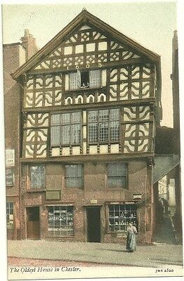 OLDEST HOUSE IN chester england pre 1915 unused postcard jws 2520