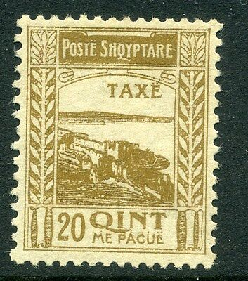 ALBANIA;  1920 Postage Due ' TAXE ' issue Mint hinged  20q. , Fort Shkoder