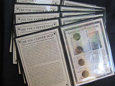 "PREMIUM-1-U S Colonial Dutch Duit -AKA ""1st New York Penny"" 4 Coin Set in Album"