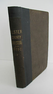 1871-2 Gazetteer & BUSINESS DIRECTORY of Ulster County NY by Hamilton Child