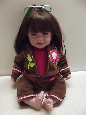"20"" Adora Vinyll Doll Work Out Chic Brown Hair & Eyes W/outfit"