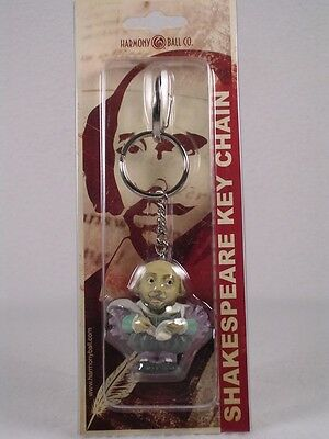 Harmony Kingdom / Ball Pot Bellys Key Chain 'Shakespeare' #PBKHSH NEW In Package