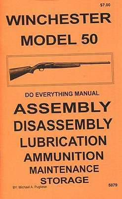 Winchester Model 50  Do Everything Manual  Assembly Disassembly  Care  Book  New
