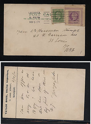Great  Britain  unusual postal card ,  from stamp dealer  1912          MS0817