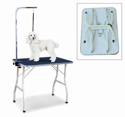 36'' Folding Pet Dog Grooming Table Portable w/ Adjustable Arm Noose Non Slip