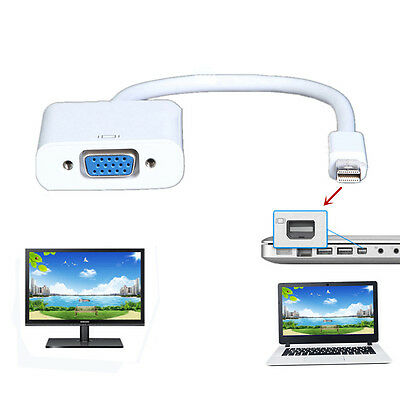VGA Video Converter Adapter Cable for Apple Macbook Pro Air iMac to TV projector