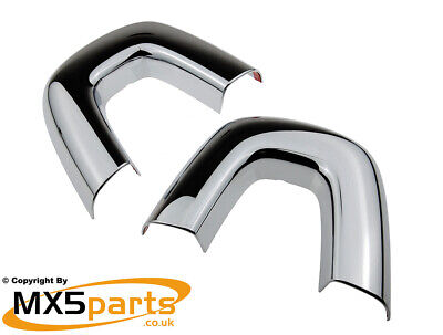 MX5 Chrome Seat Back Bar Roll Bar Hoop Covers Mazda MX-5 Mk3 3.5 3.75 2005>2015