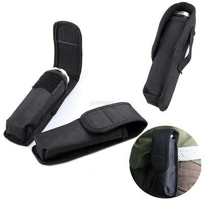 14cm Nylon Holster Holder Blet Case Cover Pouch for LED Flashlight Torch BLK J36