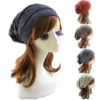 Men Women Winter Warm Knitted Ski Slouch Beret Beanie Baggy Crochet Hat Cap Knit
