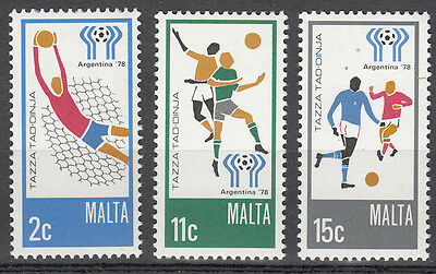 Malta Nr. 571-573** Fußball WM 1978 Argentinien / Football World Cup Argentina