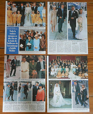 ROYAL WEDDING 1994 Guillaume Luxembourg & Sybilla Weiller clippings photos