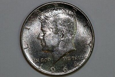 Grades Mint State Nicely Toned 1964 P 90% Silver Kennedy Half Dollar (KHX199)
