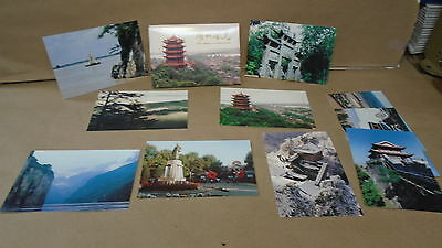 Lot of 10 hubei china landscapes pre stamped postcards ancient city of jingzhou