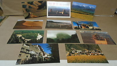 lot of 10 Landscapes of gansu china pre stamped postcards jiayuguan pass
