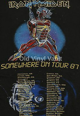 Iron Maiden concert poster Somewhere On Tour 1987  A3 Repro