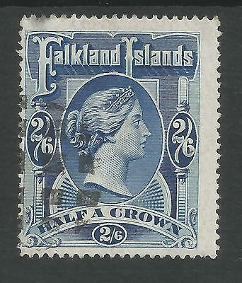 FALKLAND IS SG41 THE 1898 2/6d DEEP BLUE USED CAT £275