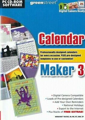GREENSTREET Calendar Maker 3 - Creator & Design Diaries Calendars & Timetables
