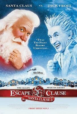 Santa Clause 3:The Scape Clause Reg Orig Movie Poster Dbl Sided 27x40 inches
