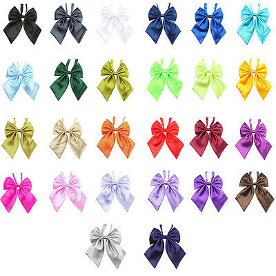New Fashion Women Girl's Party Banquet Solid Stain Knot Cravat Bow Ties Necktie