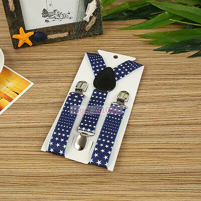 Boys Girls Children Y-Back Clip-on Adjustable Elastic Stars Suspenders GHH0030