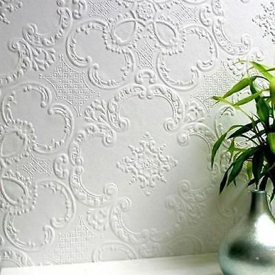 RD0137 Anaglypta Wallcovering Supaglypta Alfred Paintable Textured Wallpaper
