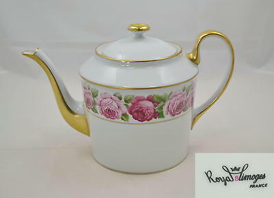 Royal Limoges France - Rose de Paris - gr. Teekanne