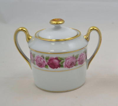 Royal Limoges France - Rose de Paris - Zuckertopf