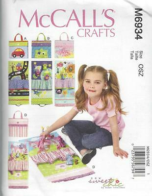 McCALL'S SEWING PATTERN CRAFTS TRAVEL TOY MATS OSZ M6934
