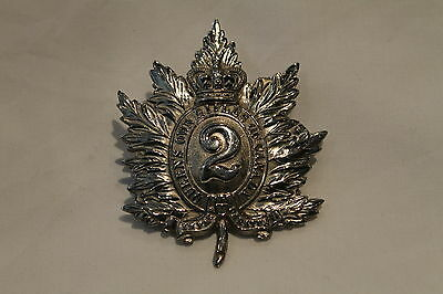 Victorian Canadian Queens Own Rifles of Canada Cap Badge 1