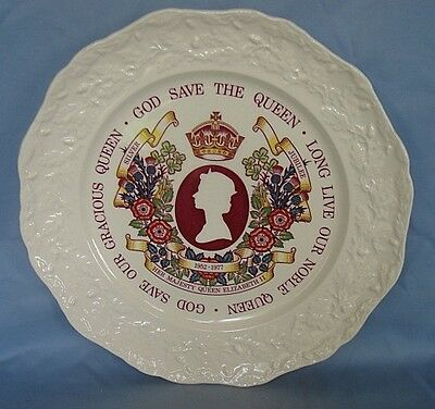Masons Ironstone Plate Commemorating Silver Jubilee 1977 Diameter 10.5 inches