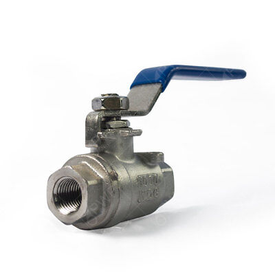 "1 pc) Stainless Steel Ball Valve Shut Off 1/4"" NPT"