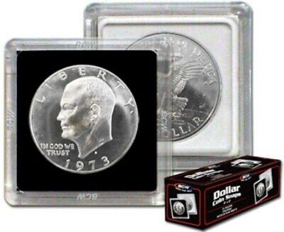 Box of 25 BCW 2X2 Hard Plastic Coin Snaps Ike /Morgan SILVER DOLLAR coin holders