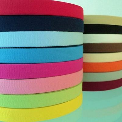 3m length HERRINGBONE WEBBING / APRON TAPE -100% COTTON 20mm lots of colours