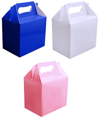 Pink Blue Or White Party Boxes Food Toy Loot Lunch Cardboard Gift Wedding/Kids