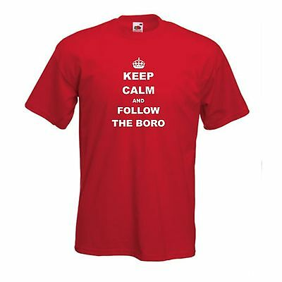 Middlesbrough FC Keep Calm And Follow The Boro Football T-Shirt - All Sizes