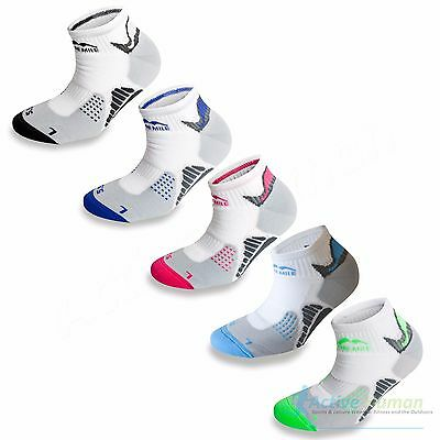 3 Pairs More Mile Padded Sports Ankle Cushioned Running Socks Mens Ladies Womens