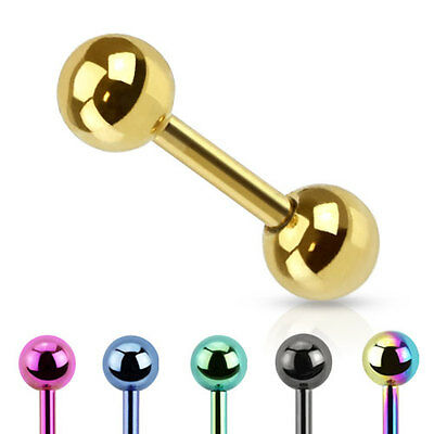 Titanium Anodized Over Stainless Steel Cartilage / Tragus Bar / Earring