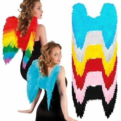 Angel Fairy Wings Fancy Dress Costume Hen Night Feathers Outfit Adult Party Goth