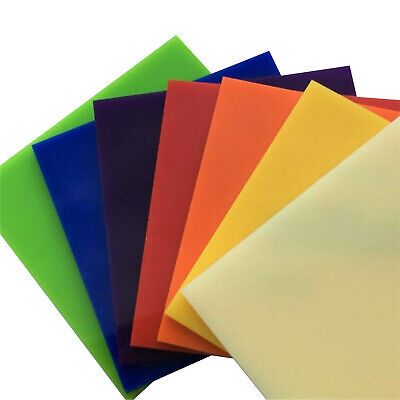 Perspex Cut To Size Acrylic Cast Plastic 24 Colours Pick Your Own Size 3Mm Thick