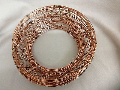 20.3cm RAISED wire wreath round rings holly mossing christmas frame choose