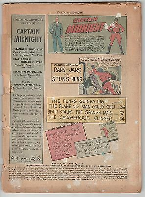 Captain Midnight #7,1943 War Book,coverless Fawcett!