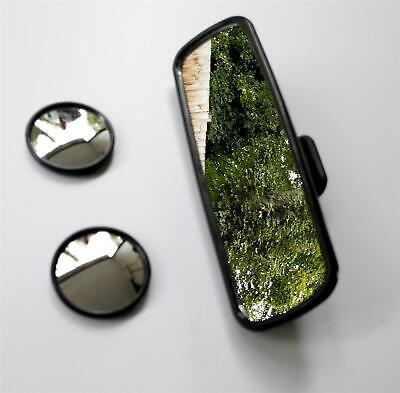 Quality Replacement Broken Interior Car Rear View Stickon + 2 Blind Spot Mirrors
