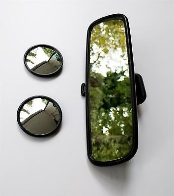 Stick On Blind Spot Mirrors & Adjustable Rear Stick On Dipping Mirror Easy Fit