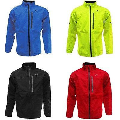 More Mile Mens Waterproof Sports Running Cycling Rain Jacket Coat Top Reflective