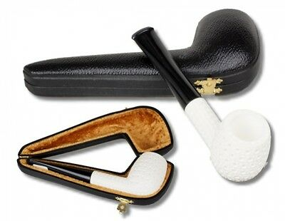 Altinay Block Meerschaum Pfeife graviert Billard/Apple