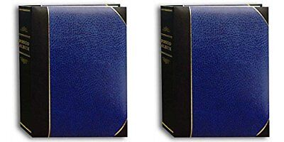 Pioneer Photo Albums Ledger LE Memo Album 5X7 2-UP 200 Photo Navy Blue - TBT57-N
