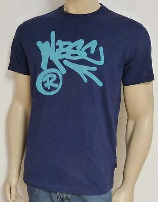WeSC Superlatiave Conspiracy Infinity Circle Tee Mens Navy Blue T-Shirt New NWT