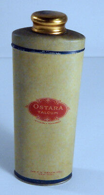Ostara Talcum Powder Tin by The C.S. Welch Co. New York (Filled with powder)