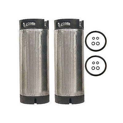 5 Gallon Pin Lock Home Brew Beer Keg - Reconditioned Coke Soda Keg - Set of 2