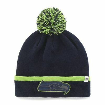 be39ccb0650ffc 47 BRAND WINTER Cuffed Pom Knit Hat Baraka NFL Seattle Seahawks ...